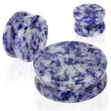 Semi Precious Stone Double Flared Plug 0 gauge - Sold as a pair Body Accentz&...