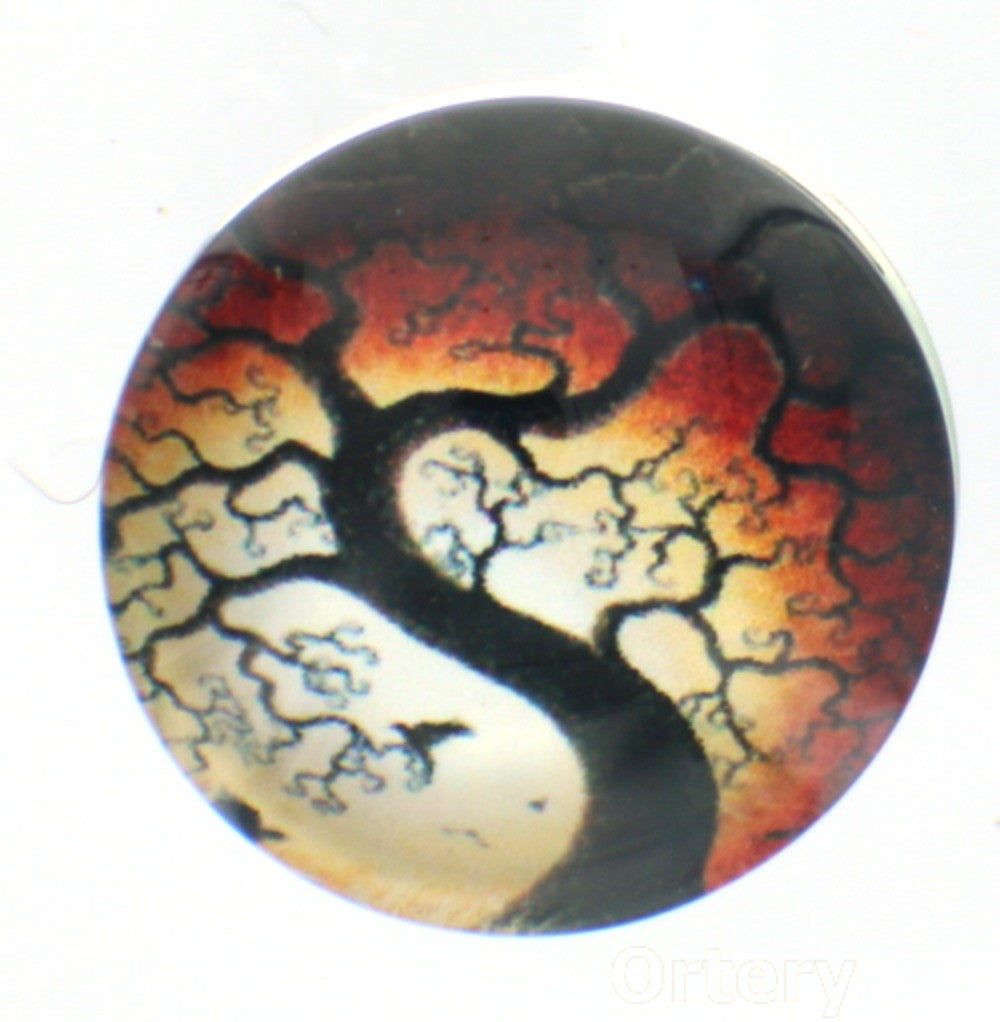 Snap glass tree of life dusk button charms Interchangable Jewelry