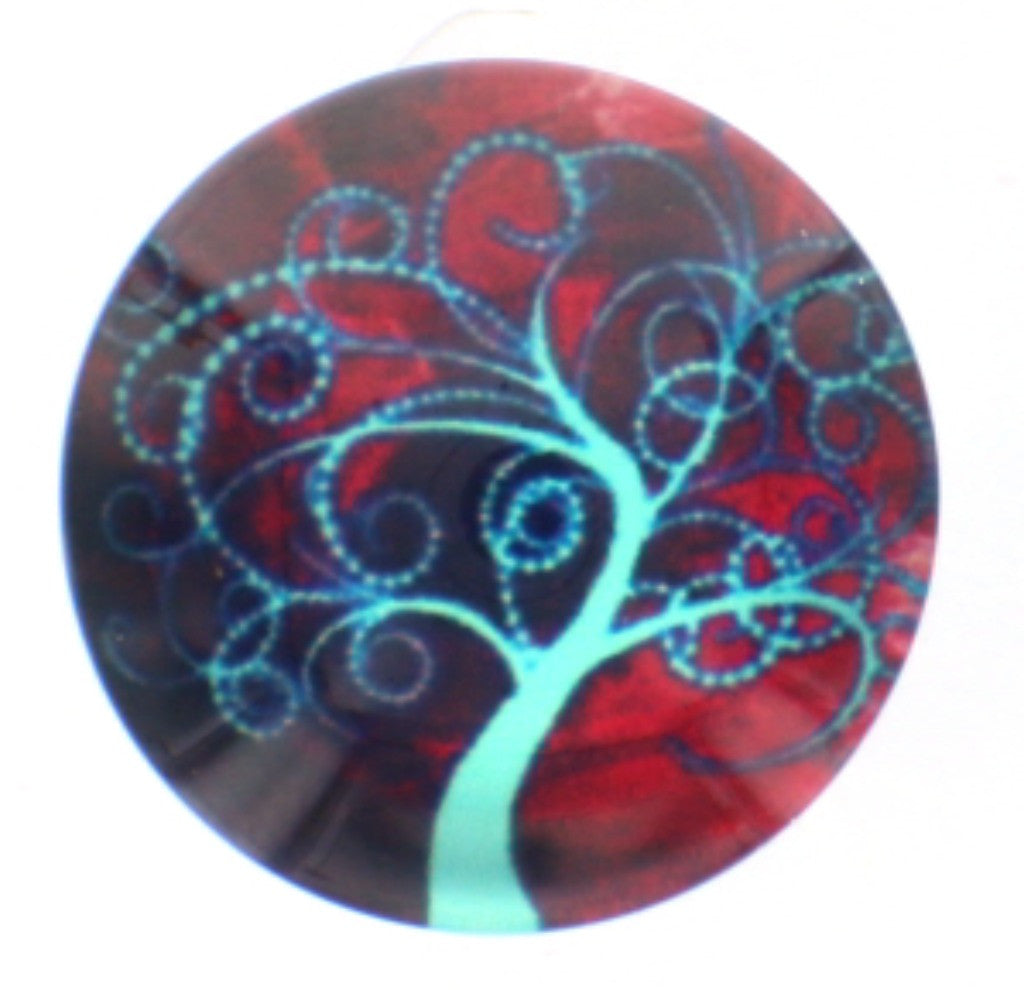 Snap glass tree of life button charms Interchangable Jewelry