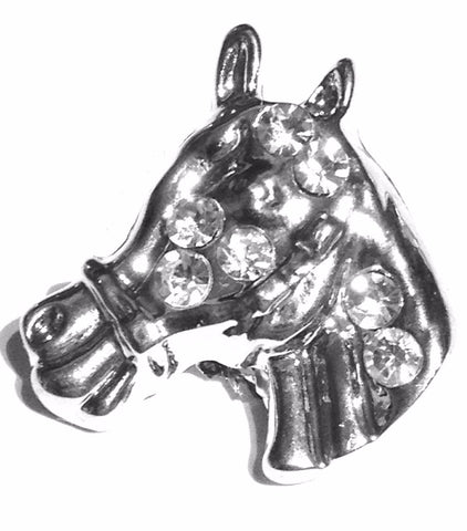 Body Accentz Silver Horse Head 18mm Snap Charms Buttons Interchangeable Jewelry Ginger