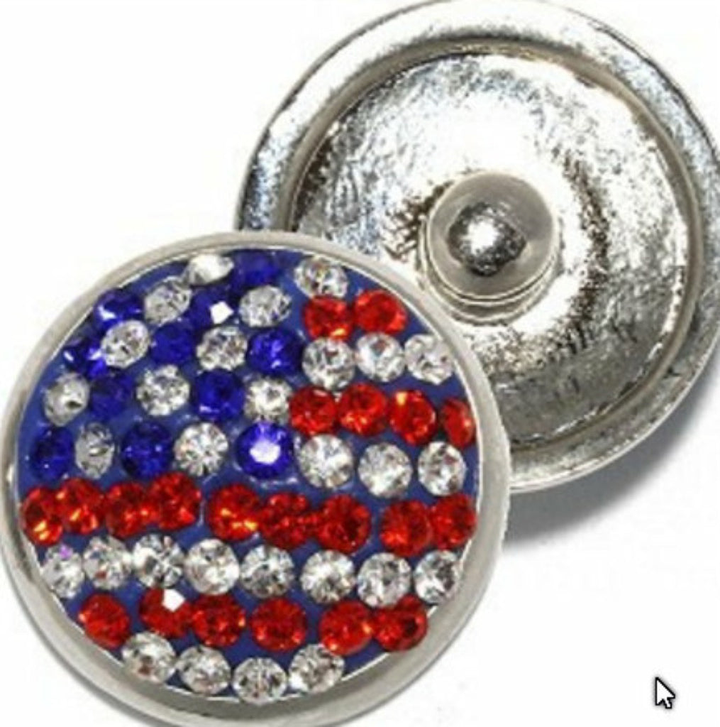 Snap glass Prayer USA Flag charms Interchangable Jewelry Fits 18mm  Bracelet, Rings Necklace