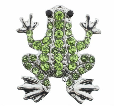 Body Accentz 18mm Snap Charms Buttons Interchangeable Jewelry Ginger CZ Frog