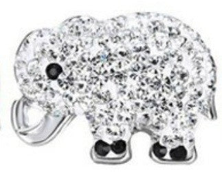 Body Accentz 18mm Snap Charms Buttons Interchangeable Jewelry Elephant CZ