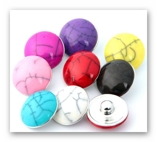 Body Accentz 18mm Snap Charms Buttons Interchangeable Jewelry Lot of 5