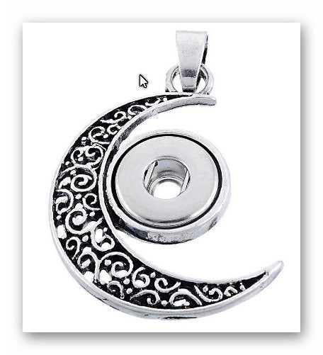 Pendant Moon star for  charms Interchangable Jewelry snap button charm 12mm fit