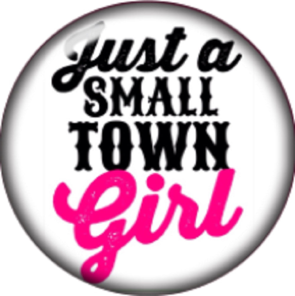 Snap button Domed Small town girl Interchangable Jewelry  18mm