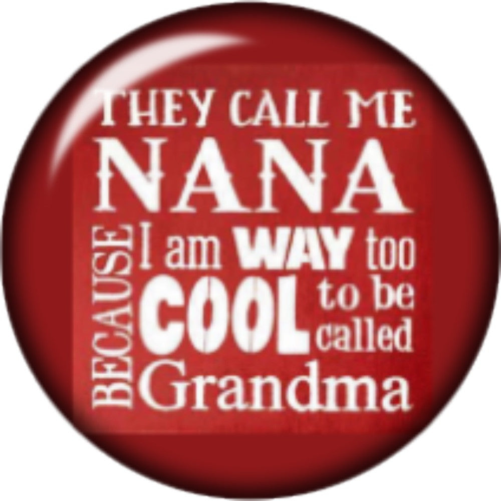 Snap button Domed Nana charm Interchangable Jewelry  18mm