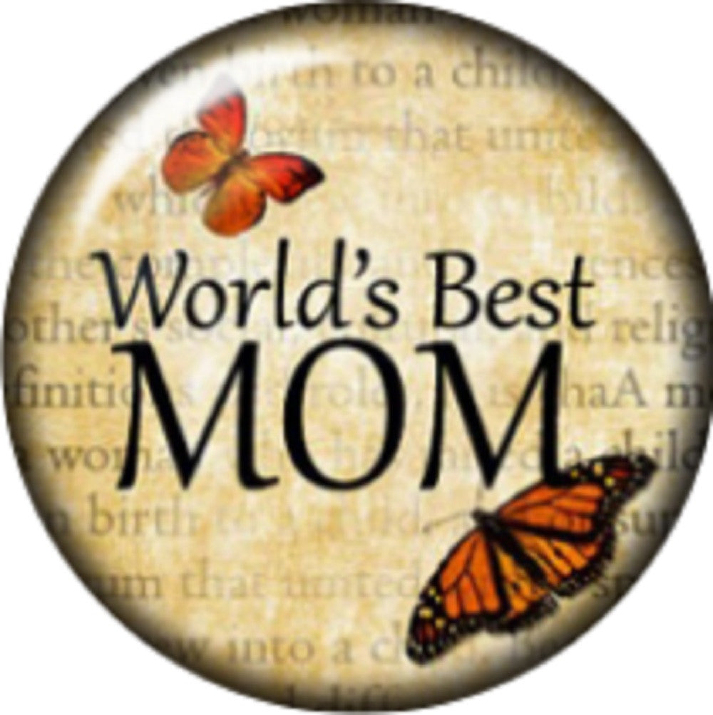 Snap button Domed Words best Mom charm  Jewelry 18mm