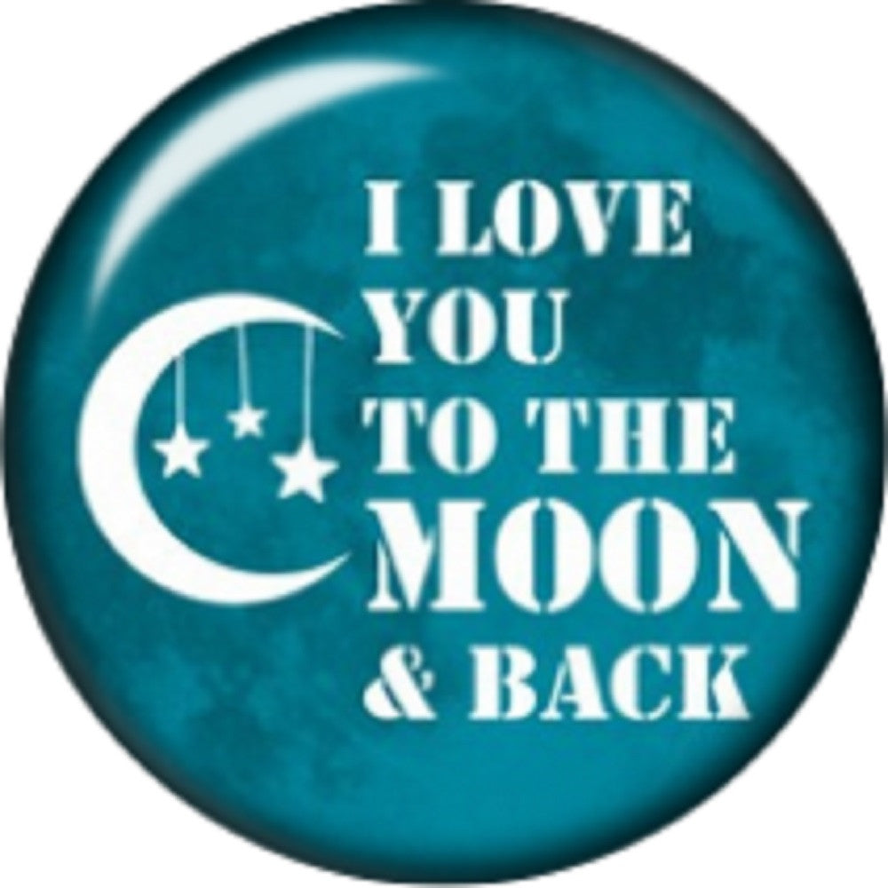 Snap button I love you to the moon and back 18mm charm interchangeable