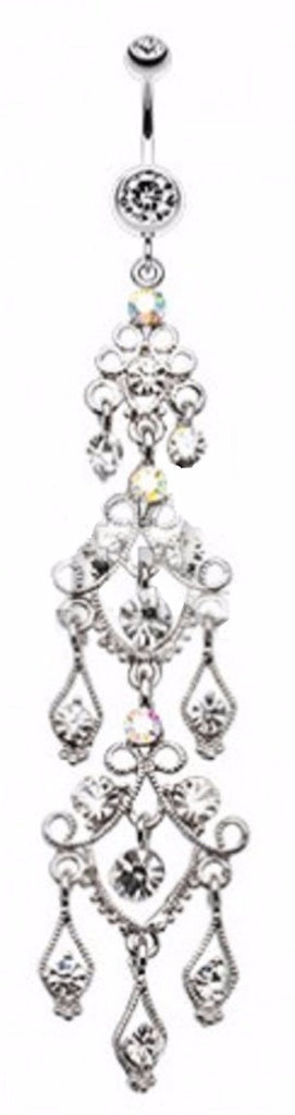 Belly Button Ring Navel Majestic Chandelier Waterfall 14g