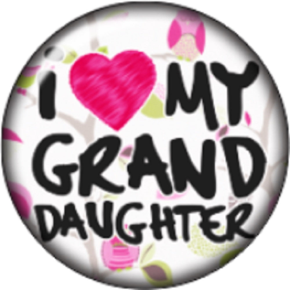 Snap button I love my granddaughter 18mm charm chunk interchangeable