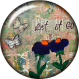 Snap button Let it be  18mm charm chunk interchangeable
