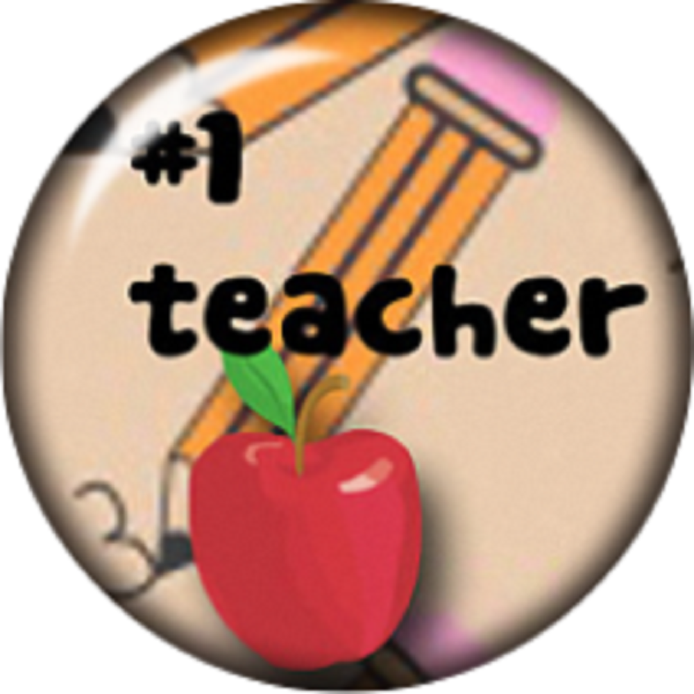 Snap button #1 Teacher 18mm charm chunk interchangeable