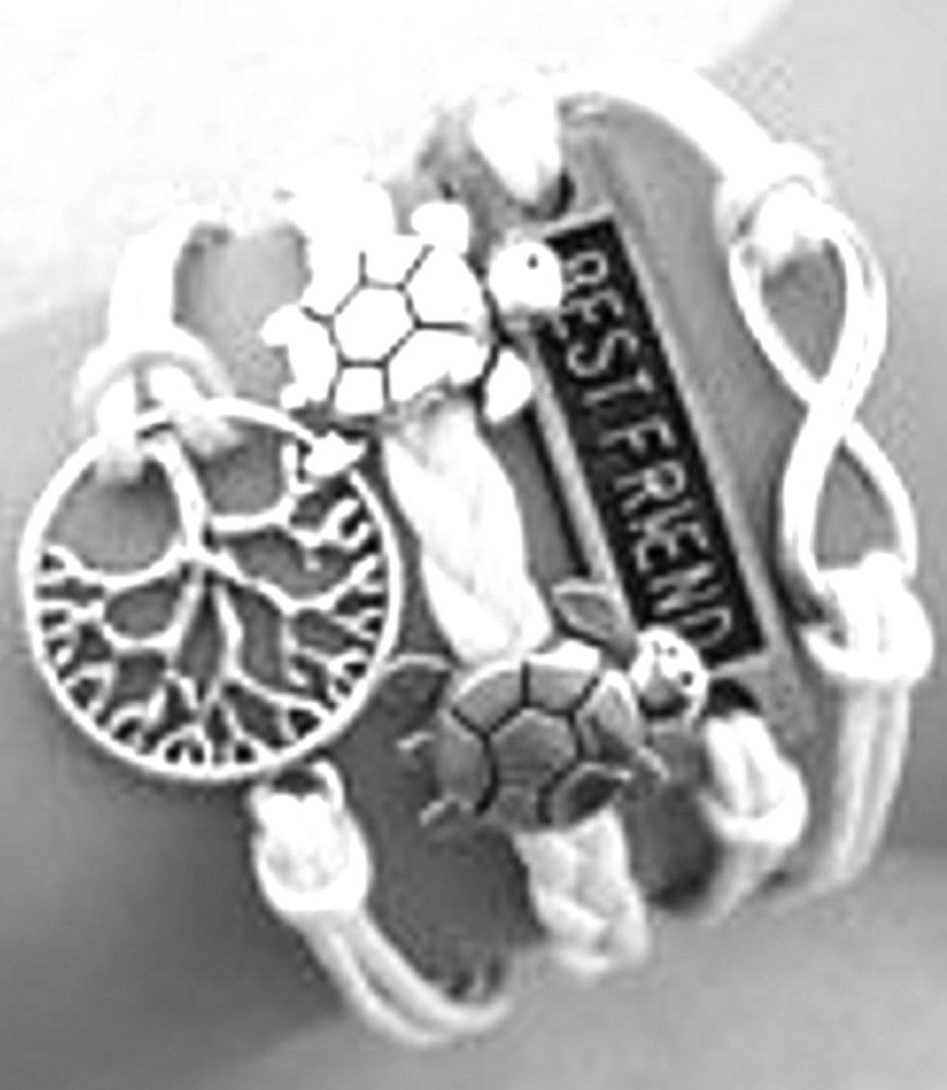 Tree of Life Bracelet Multi-layer Charm Infinity Love Best Friend Turtles