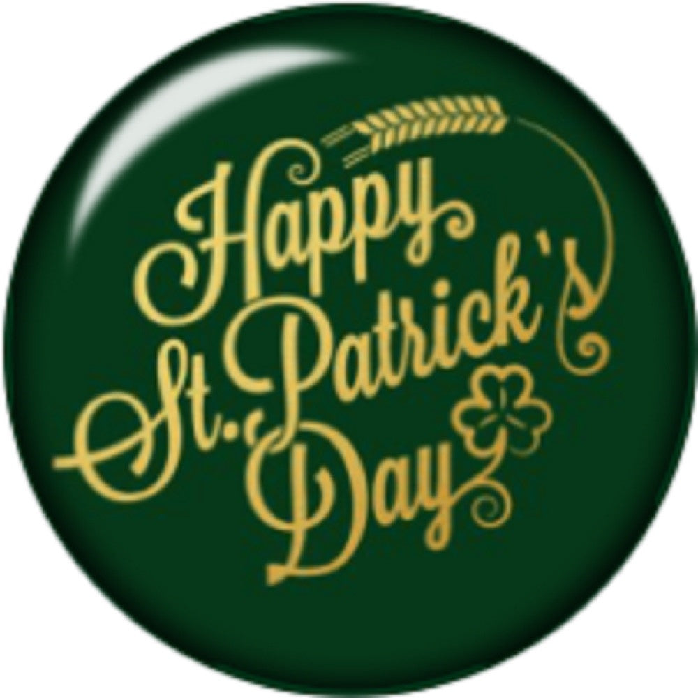 Snap button Happy St Patrick's Day 18mm charm chunk interchangeable