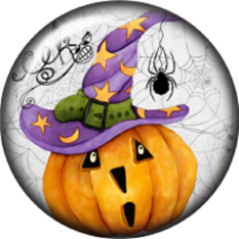 Snap button Pumpkin Witch Hat Spider 18mm charm chunk interchangeable