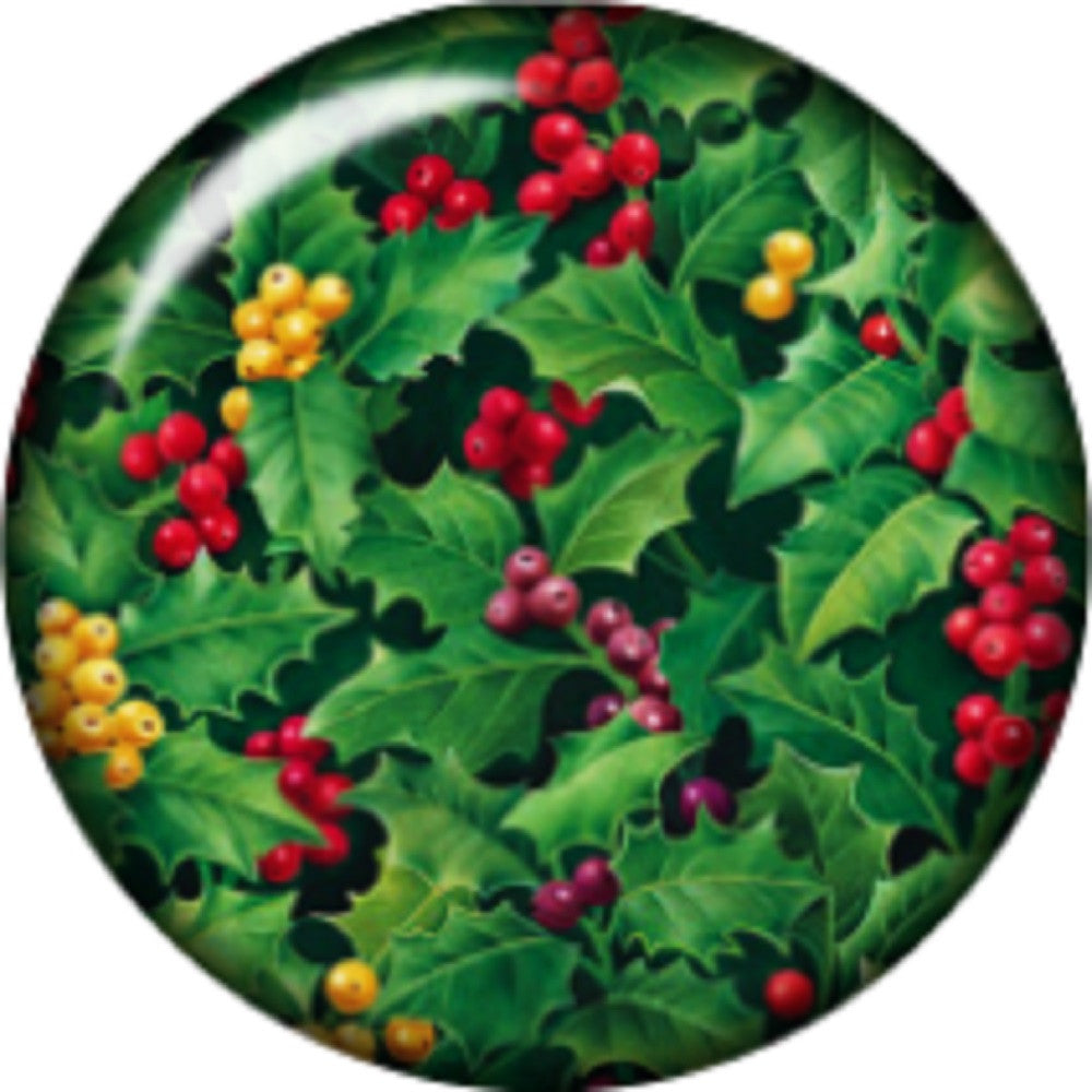 Snap button Holly Berries 18mm charm chunk interchangeable