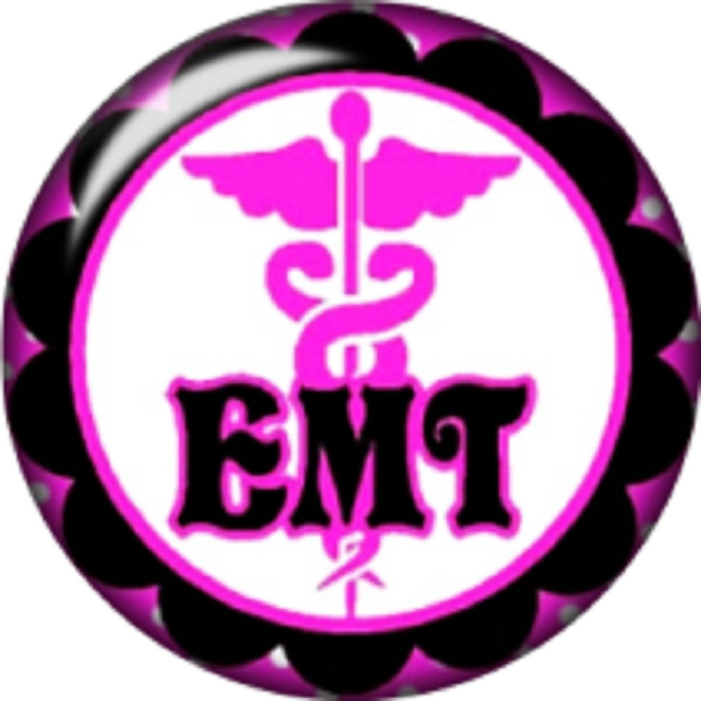 Snap button EMT Emergance Medical Technician 18mm charm chunk interchangeable