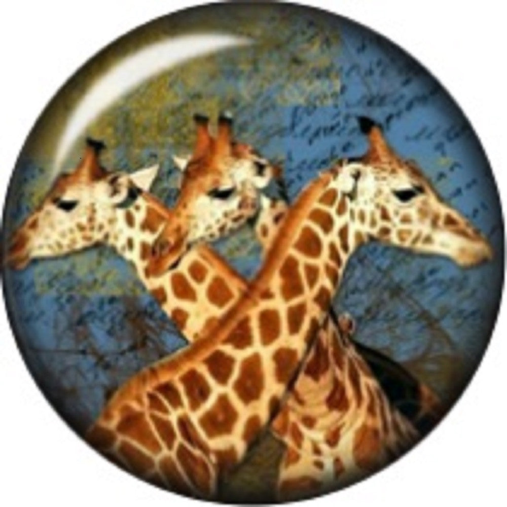 Snap button Giraffe Family 18mm charm chunk interchangeable