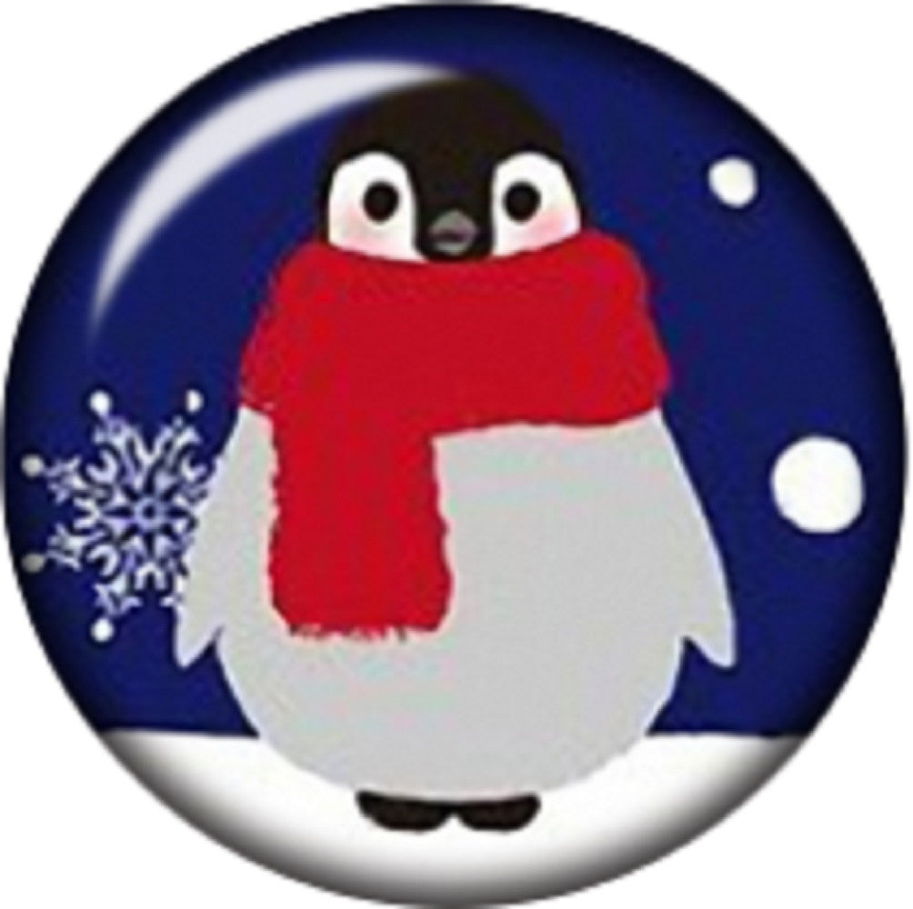 Snap button Winter penguin snow 18mm charm chunk interchangeable