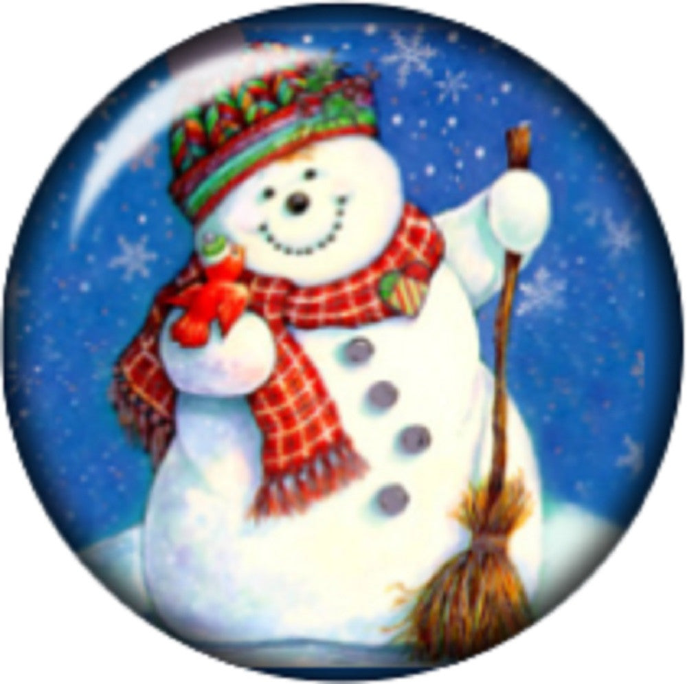 Snap button Snowman 18mm charm chunk interchangeable