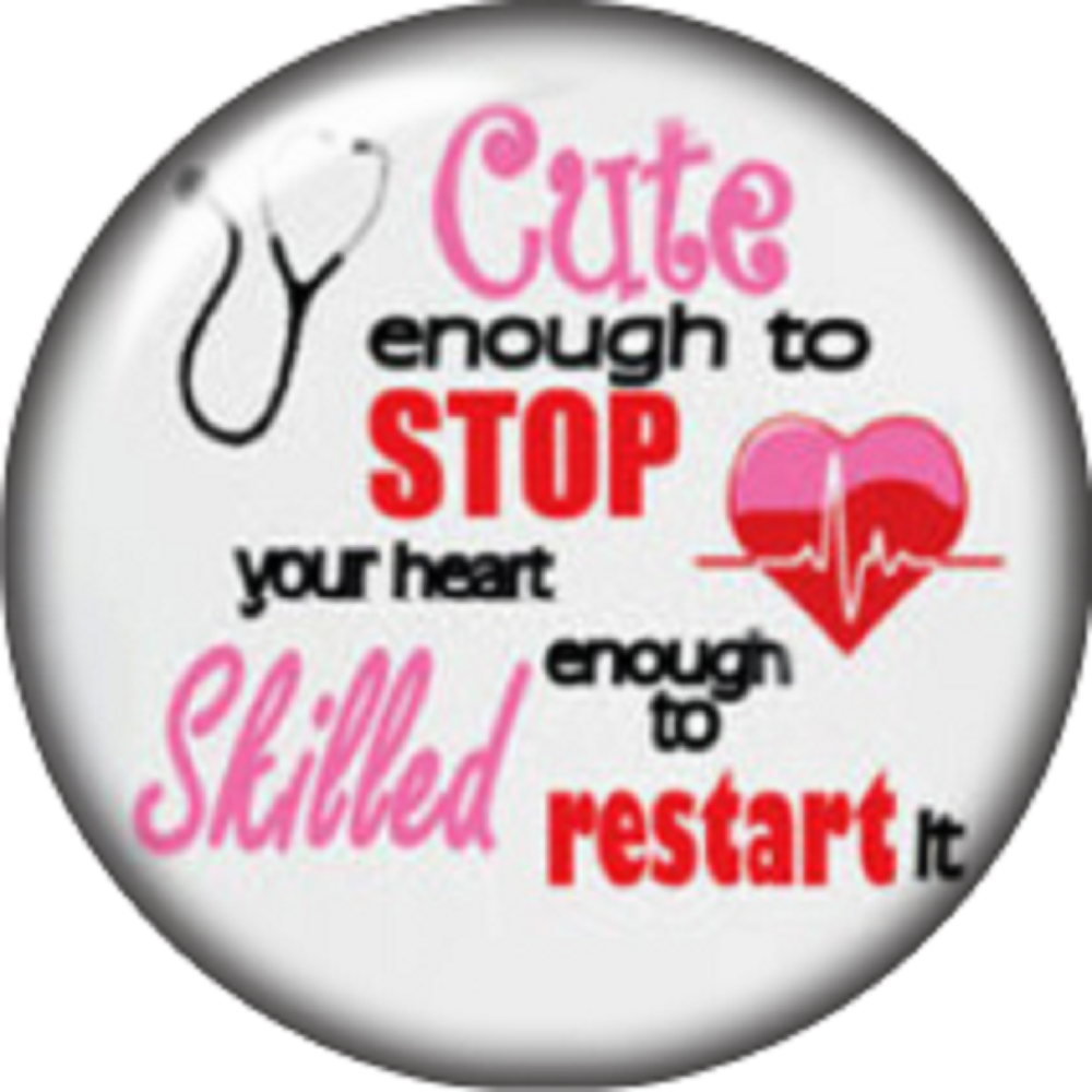 Snap button Domed Nurse Cute enough charm  Jewelry 12mm
