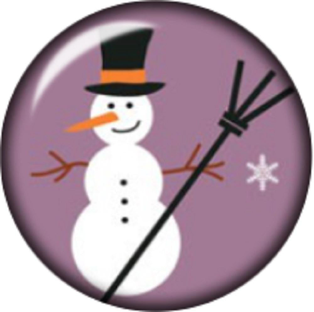 Snap button Snowman 12mm charm chunk interchangeable