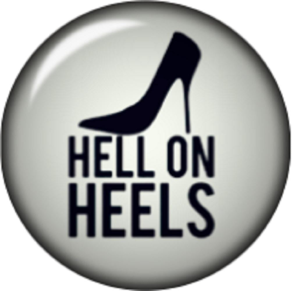 Snap button Hell on Heels 12mm charm chunk interchangeable