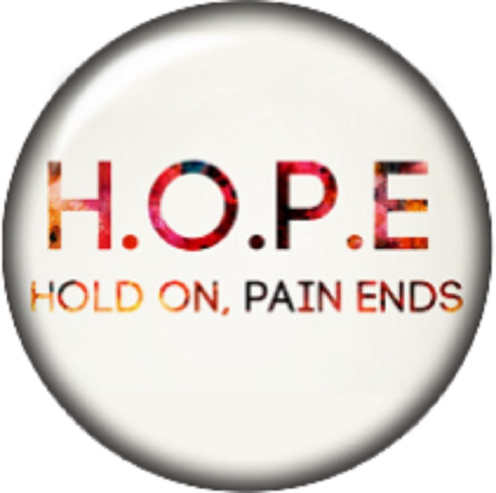 Snap button Hold On Pain ends Hope 12mm charm chunk interchangeable