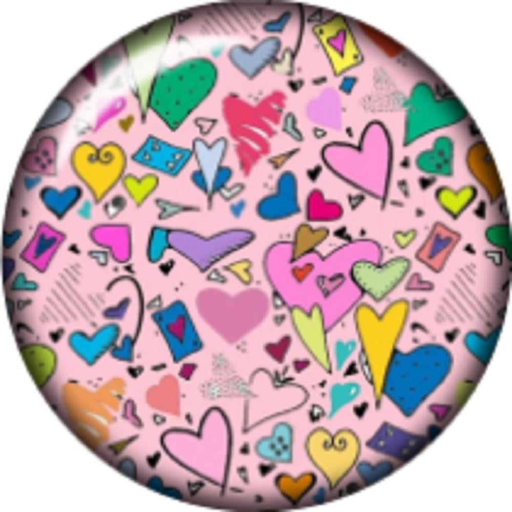 Snap button Confetti hearts 12 mm charm chunk interchangeable