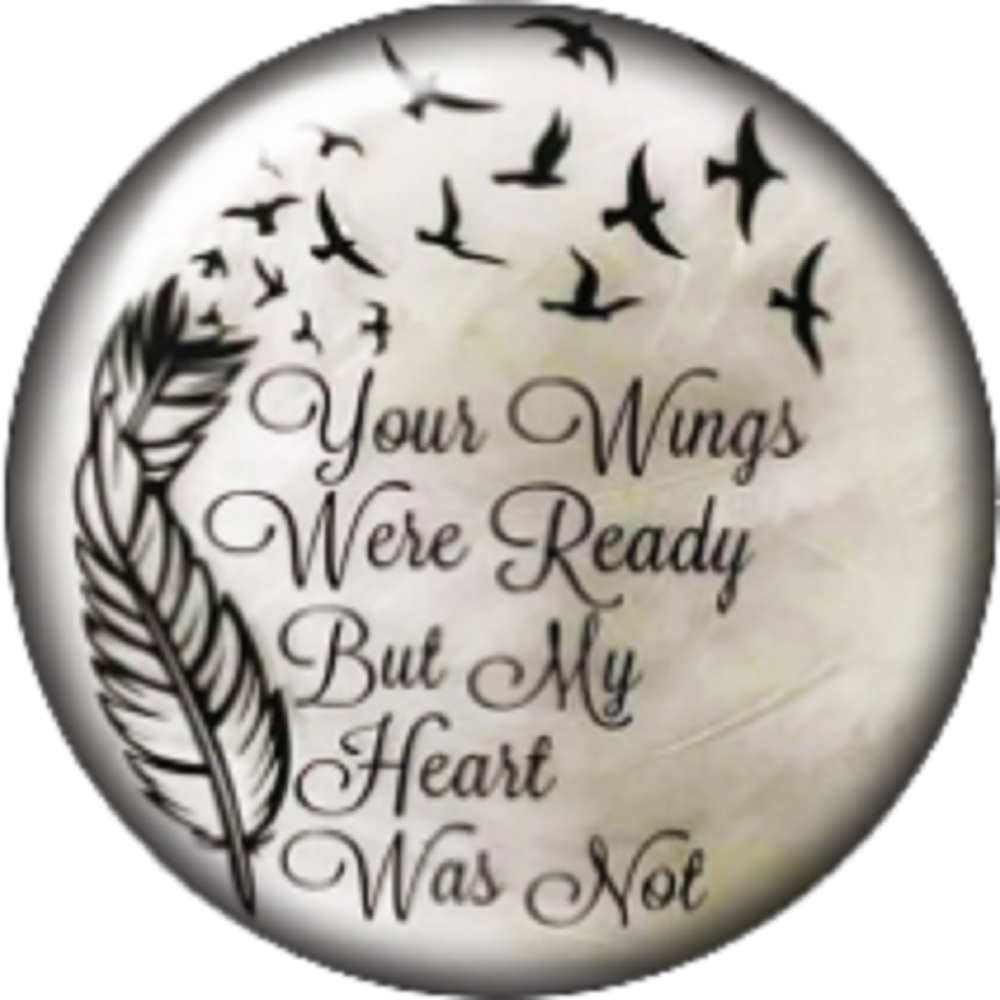 Snap button Your winds were ready my heart was not 12mm charm interchangeable