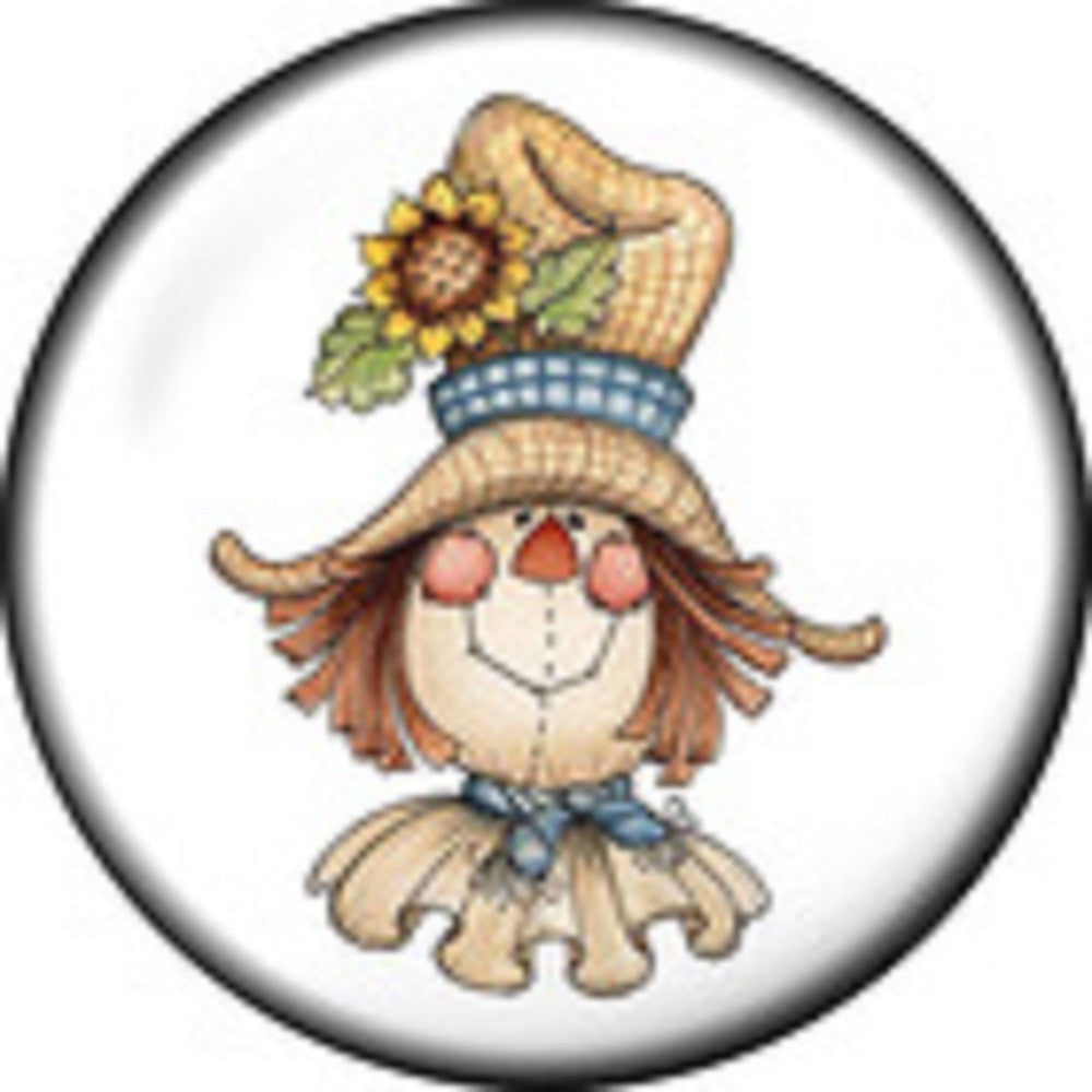 Snap button Scarecrow Fall   18mm charm chunk