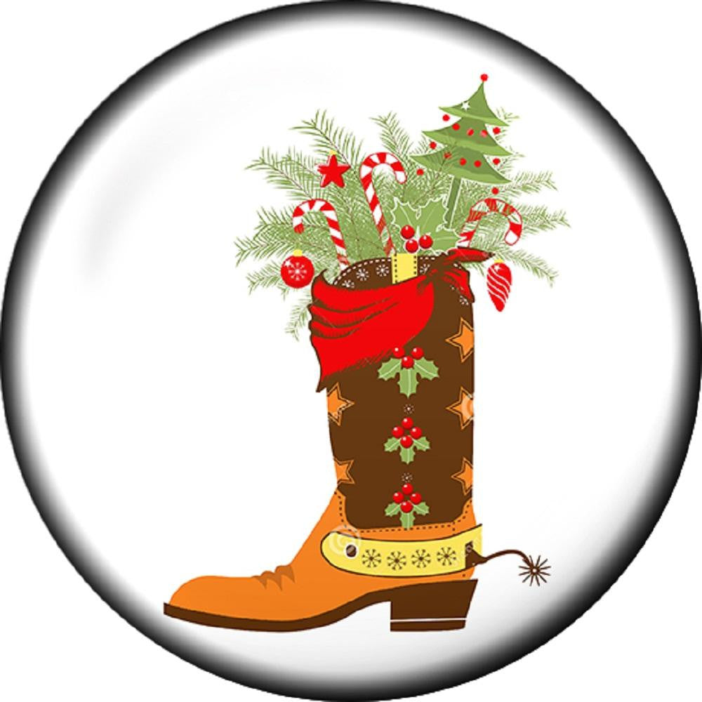 Snap button Christmas Boot Holiday 12mm Cabochon chunk