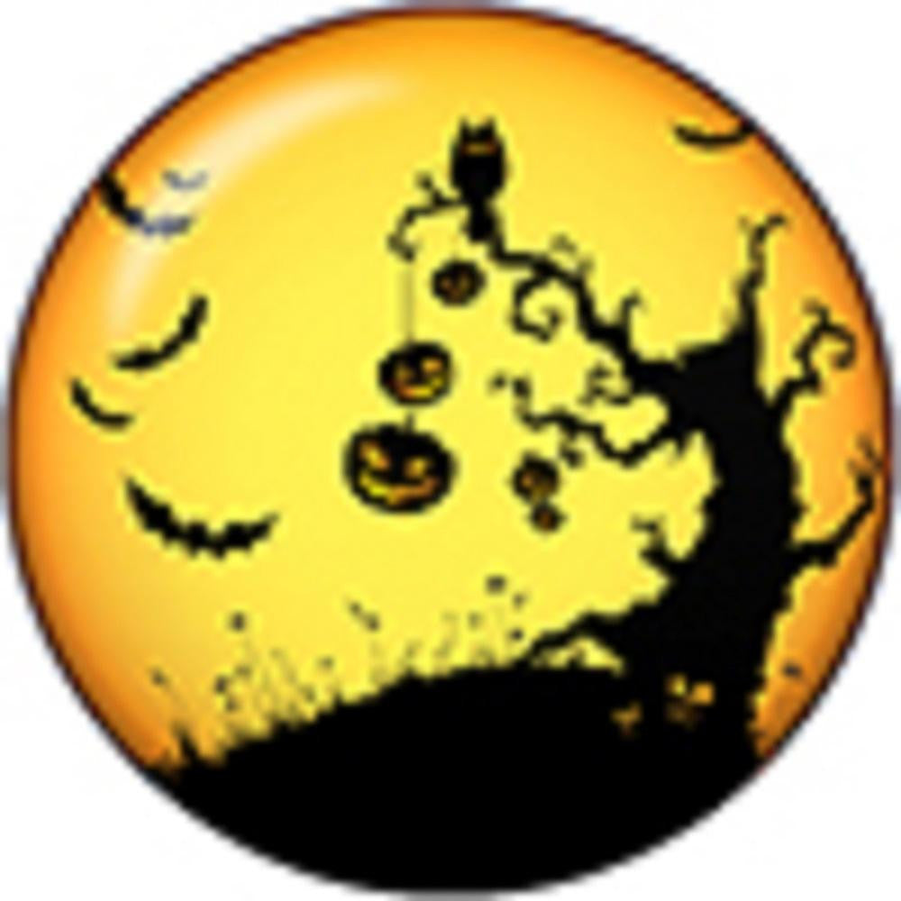 Snap button Holiday Halloween tree pumpkin 12mm Cabochon chunk charm