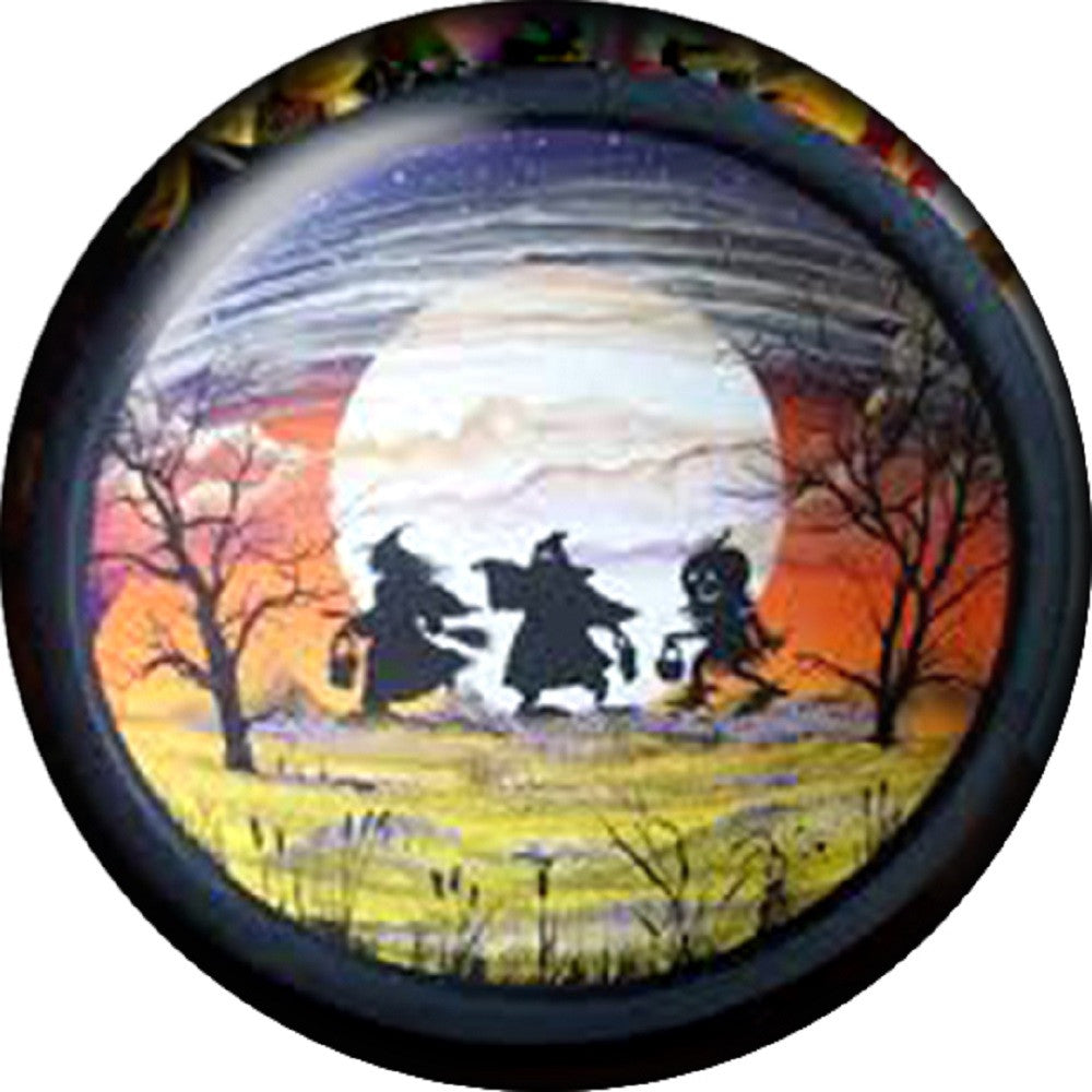 Snap button Holiday Halloween Witches Pumpkin 18mm Cabochon chunk charm