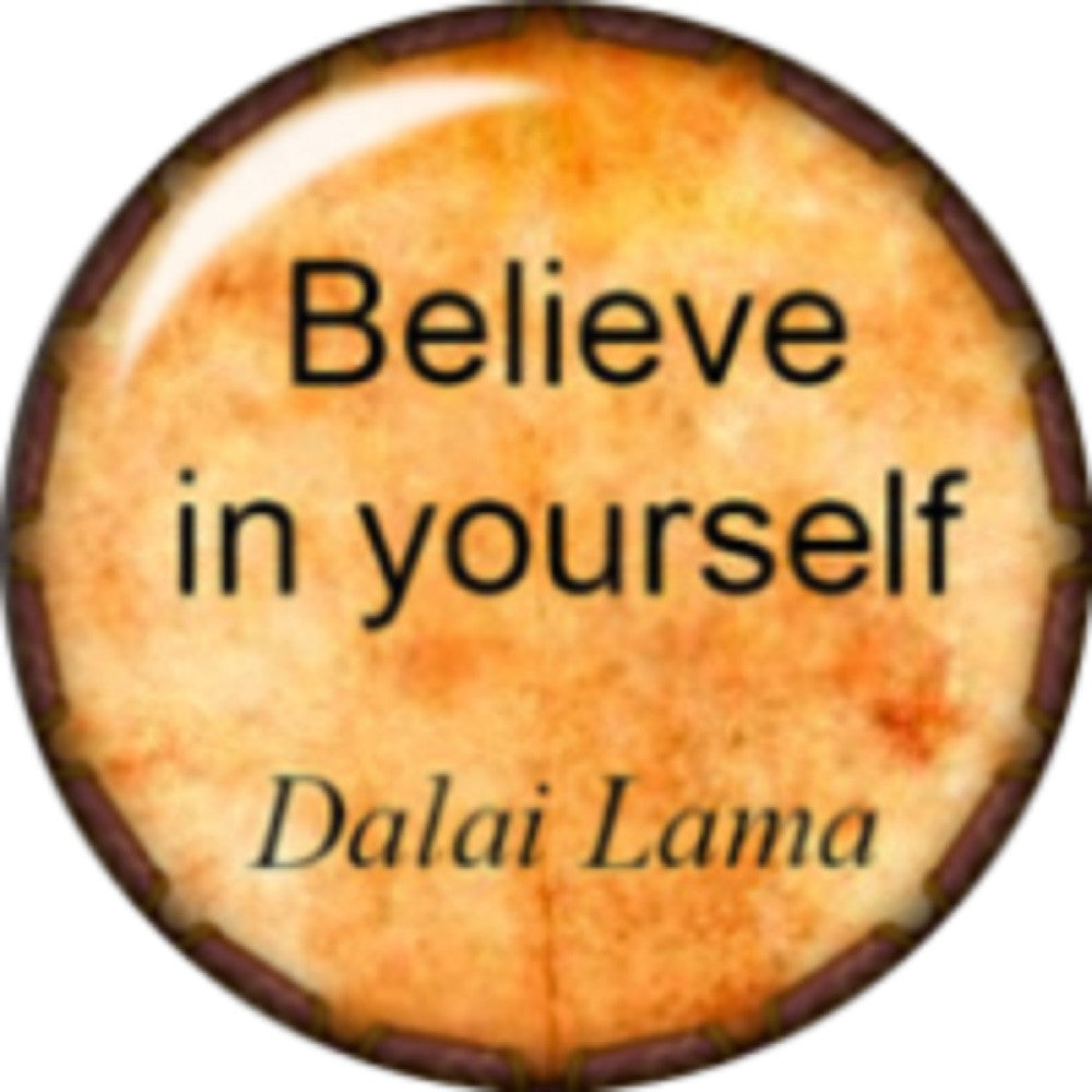 Snap button Believe in yourself 18mm Cabochon chunk charm