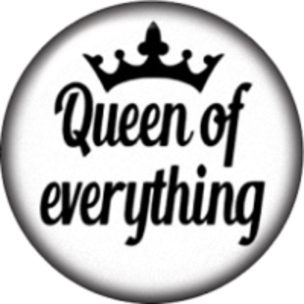 Snap button  Queen of Everything 18mm Cabochon chunk charm