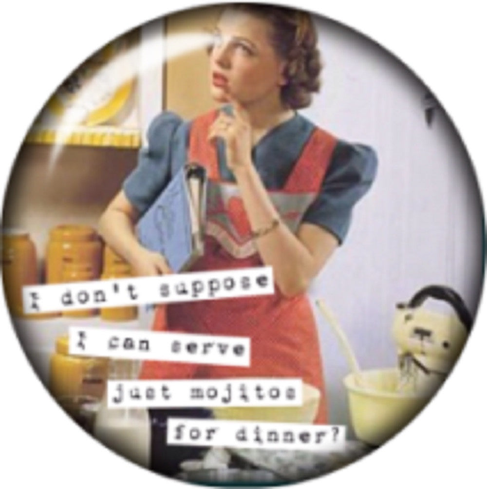Snap button Sarcasm Mojito for dinner 18mm Cabochon chunk charm Housewife