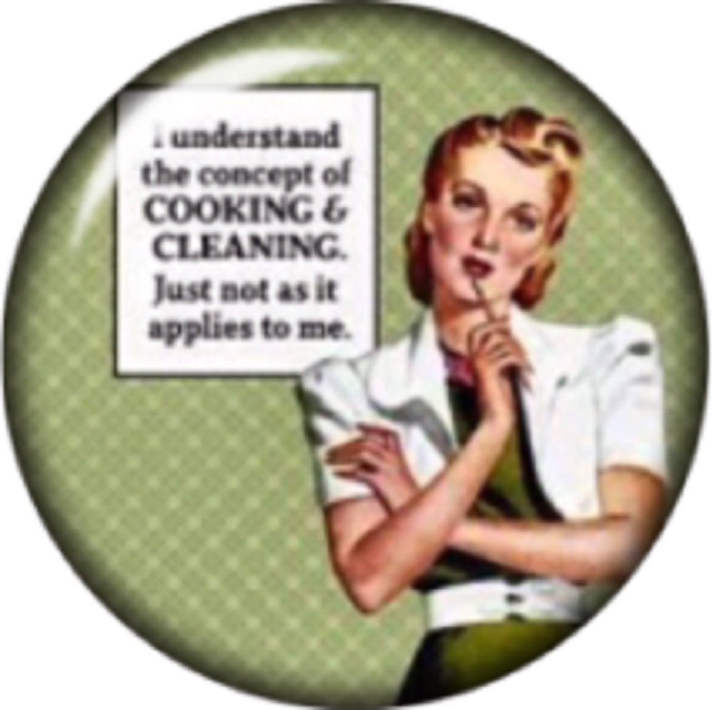 Snap button Sarcasm Cooking Cleaning 18mm Cabochon chunk charm