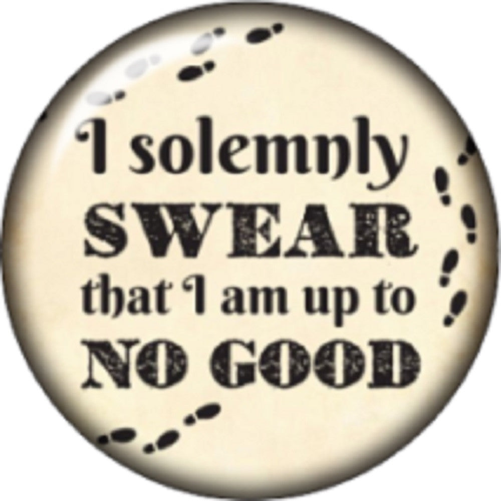 Snap button I solemnly swear I am up to no good 18mm Cabochon chunk charm