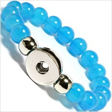 Bracelet Crystal Ball stretch DIY interchangeable Snap Button fits 18mm
