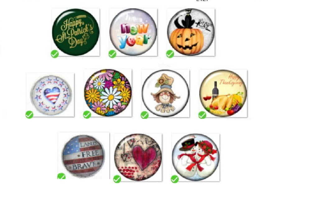 Snap Button Toggle Clasp 18mm 10   Holiday Charm Collection Collection