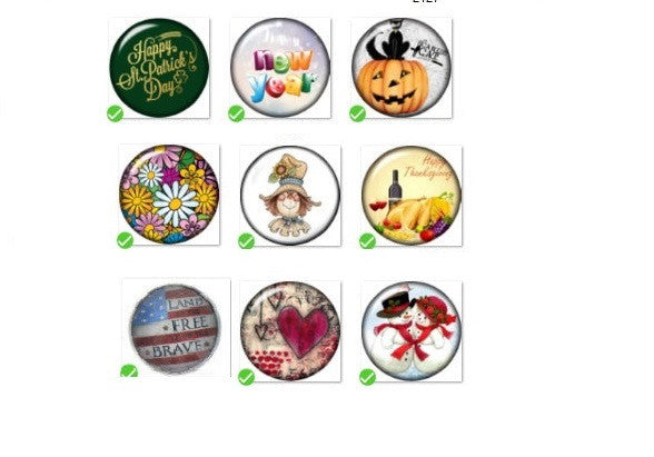 Snap Button 18mm 9   Holiday Charm Collection Collection Christmas Hallloween Thanksgiving