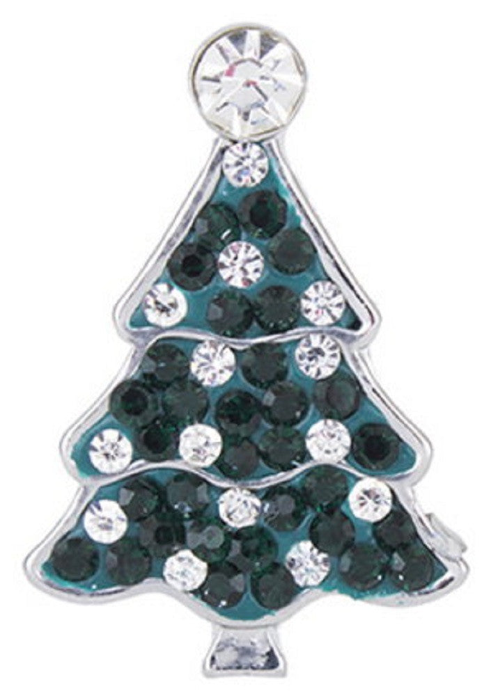 Snap button Crystal Christmas Tree Design Alloy Interchangable Jewelry 18mm