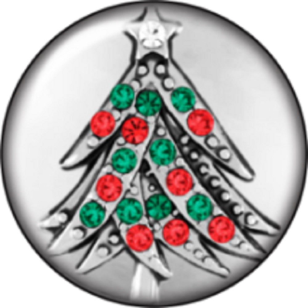 Snap button Christmas tree Interchangable Jewelry 18mm Cobochan