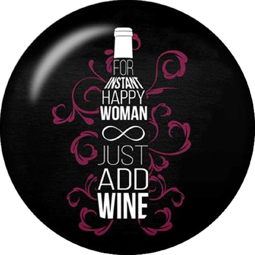 Snap button Instant Happy woman add wine Interchangable Jewelry 18mm Cobochan