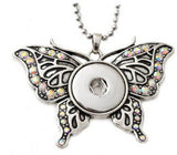 Pendant Interchangeable DIY Ginger Snaps Butterfly fit for 18mm Snap Button
