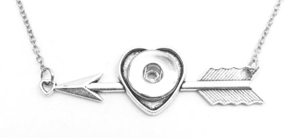 Pendant Interchangeable DIY Ginger Snaps Heart Arrow fit for 18mm Snap Button