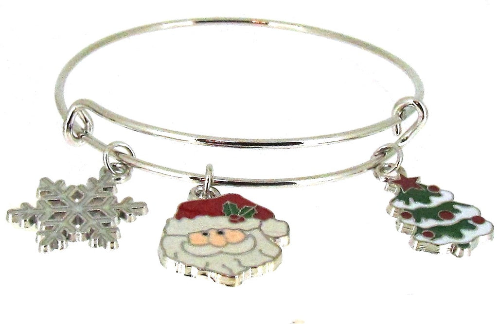 Expandable Bangle Santa Christmas Tree Snowflake