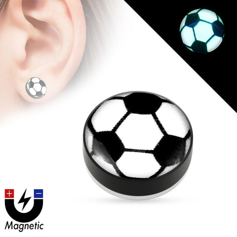 Earrings Rings Magnetic Soccer Ball Sold as a pair
